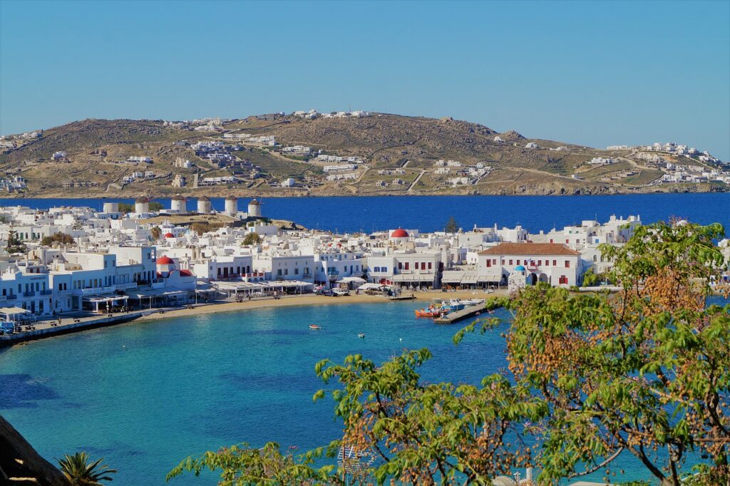 mykonos, greece, sea
