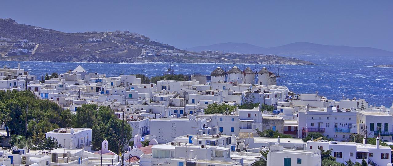mykonos, greece, village